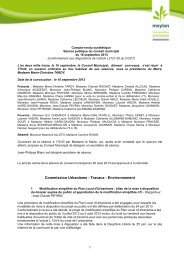 le compte-rendu synthétique du CM - Site de la mairie de Meylan