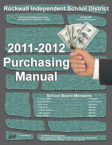 Purchasing Manual - Rockwall ISD