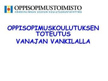 Oppisopimuskoulutus, Sinikka Koskiluoto - Kiipula, Kiipulan koulutus