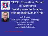 Stark State College of Technology - Ohio - THE Fuel Cell Corridor