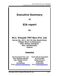 Executive Summary of EIA report by M/s. Vinayak TMT ... - eRc India