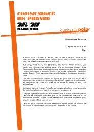 Communiqué de presse Quais du Polar 2011 Bilan - Najat Vallaud ...