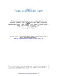 Thoracic endovascular aortic repair for acute complicated type B ...