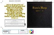 Detailed History of the Zion's Harp Hymnal - Apostolic Christian ...