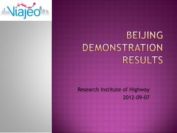 Beijing Demonstration results - Viajeo.eu