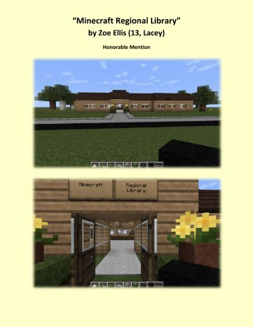 """Minecraft Regional Library"" by Zoe Ellis (13, Lacey) - Timberland ..."