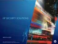 HP SECURITY SOLUTIONS