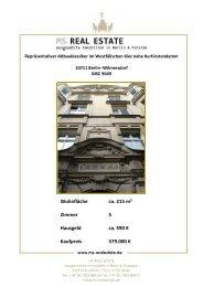 Wohnfläche ca. 215 m² Zimmer 5 Hausgeld ca ... - ms-realestate.de