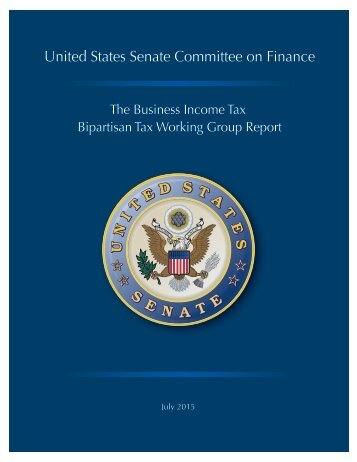 The Business Income Bipartisan Tax Working Group Report