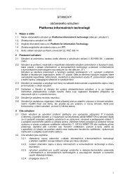 STANOVY občanského sdružení Platforma informačních technologií