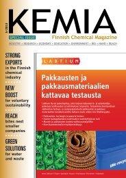 in the Finnish chemical industry - Kemia-lehti