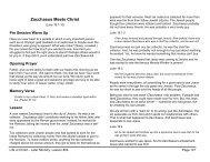 Lesson 24: Zacchaeus Meets Christ