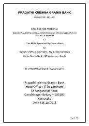Pragathi Krishna Gramin Bank Head Office : IT Department 32 ...