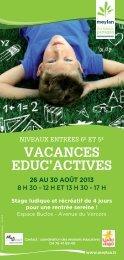 le flyer Vacances Educ'Actives (version P.D.F ) - Meylan