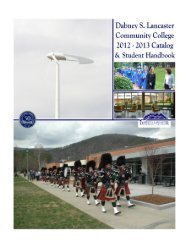 COVER PAGE - Dabney S. Lancaster Community College