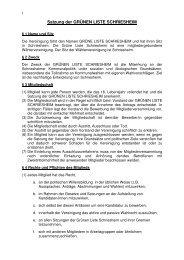 Satzung der GRÜNEN LISTE SCHRIESHEIM - Grüne Schriesheim