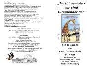 Musical Programm - Katholische Grundschule St. Peter Rheinberg