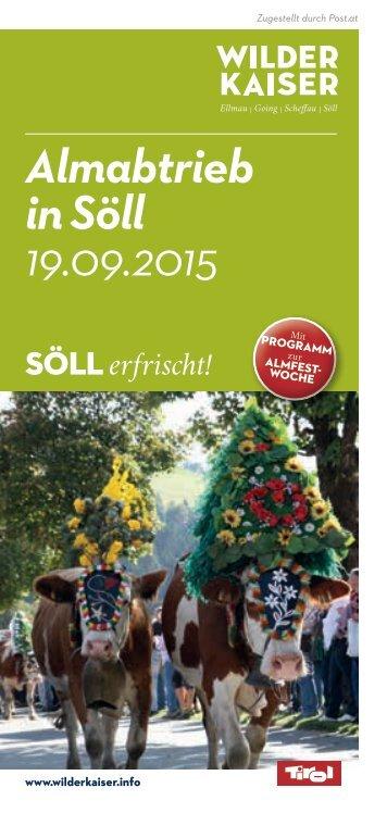Almabtrieb in Söll 19.09.2015
