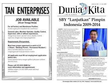 Edisi 195 - 11 Juli 2009 - Dunia Kita