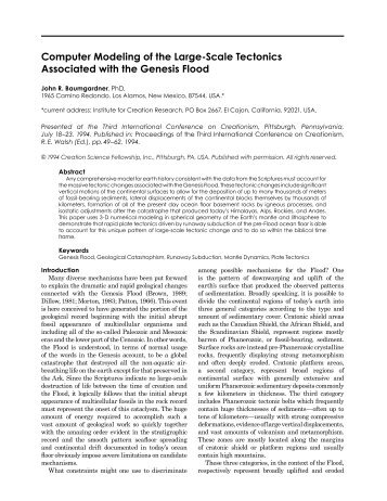 Computer Modeling of the Large-Scale Tectonics Associated with ...