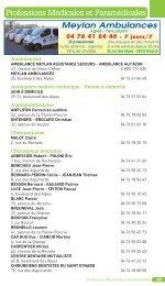 Annuaire des professions (para)médicales (version P.D.F )