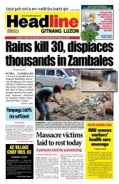 Massacre victims laid to rest today - Headline Gitnang Luzon