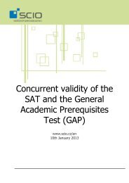 Concurrent validity of the GAP and the SAT - Scio