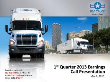 Slide Presentation PDF - USA Truck