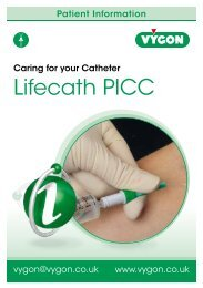 Lifecath PICC Patient Information - Vygon (UK)