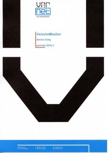 Verzuim Sector Zorg - 1e kwartaal 2010 - StAZ