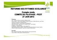 Réforme des rythmes scolaires - Comité de pilotage ... - Meylan