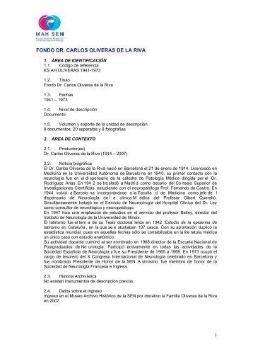 (pdf). - Museo Archivo Histórico   SEN - Sociedad Española de ...
