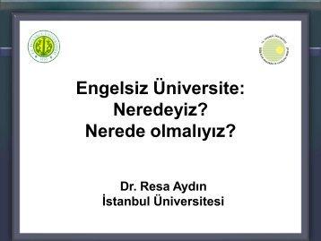 Engelsiz Üniversite Birimi