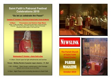 October 2010 - St Faith's home page