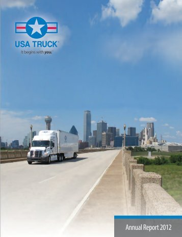 Annual Report 2012 - USA Truck