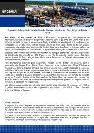 Engevix inicia estudo de viabilidade do trem elétrico em San José ...
