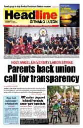 holy angel university labor strike - Headline Gitnang Luzon