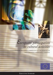 participation in cultural activities - European Commission - Europa