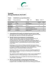 Protokoll Sitzung Arbeitskreis 24.01.2011