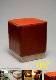 Leather pouf with marble base - Tuttoattaccato