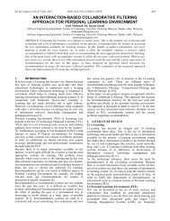 an interaction-based collaborative filtering approach for personal ...