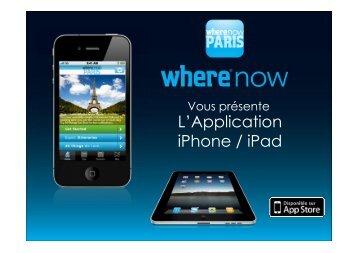 L'Application iPhone / iPad - Where Paris