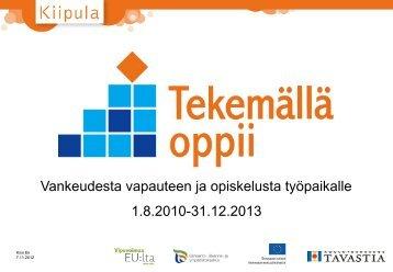 Kirsi Ek 7.11.2012 - Kiipulan ammattiopisto