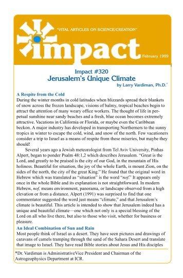 Download Jerusalem's Unique Climate PDF - Institute for Creation ...