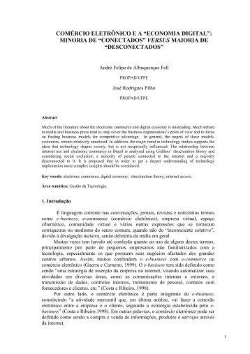 """COMÉRCIO ELETRÔNICO E A """"ECONOMIA DIGITAL"""": MINORIA DE ..."""