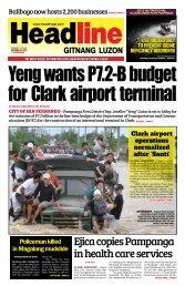 Ejica copies Pampanga in health care services - Headline Gitnang ...