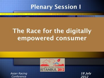 The Race for the digitally empowered consumer