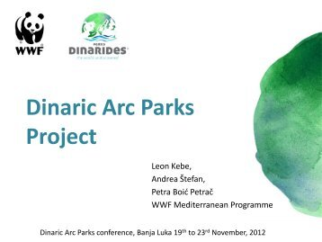 """Dinaric Arc Parks"" project"