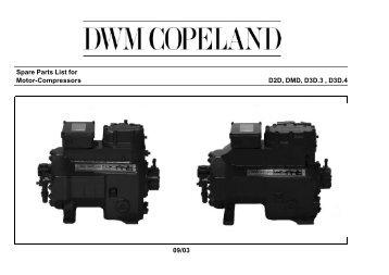 Spare Parts List for Motor-Compressors D2D, DMD, D3D.3 , D3D.4 ...