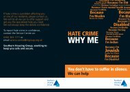 Hate Crime - Southern Housing Group